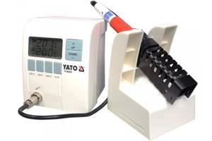 YATO Паяльна станція цифрова індукційна; Р= 48 Вт, t°= 150-450°С, жало Ø= 7,1 мм, l= 65 мм