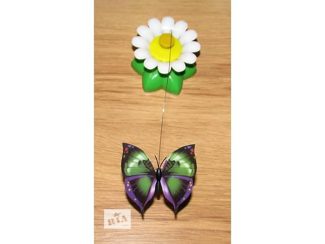 бу Игрушка для кота - бабочка, которая кружит вокруг цветка! в Киеве