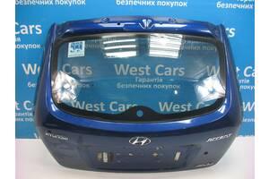 Б/У Крышка багажника синяя хетчбэк Accent 2006 - 2010 . Вперед за покупками!
