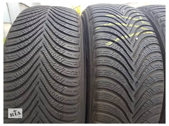 Б/у шини Michelin Alpin A5 205/55/16-пара 2017р.в. резина зима шини зимові зимние покришки- объявление о продаже  в Львове