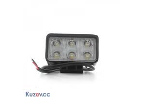 Фара LED прямоугольная 18W, 6 ламп, 110*114,5мм, узкий луч