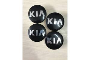 Колпачки заглушки в литые диски KIA/Киа 58/49/11 мм. C5314K58 Черные/Хром