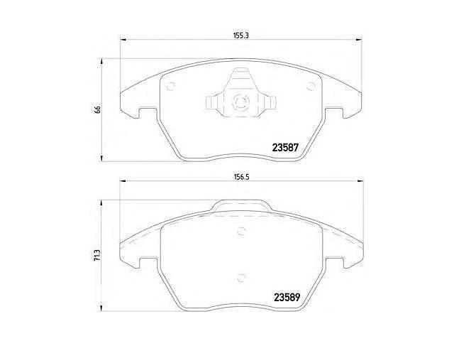 купить бу Комплект тормозных колодок, дисковый тормоз HELLA для VW GOLF PLUS в Одесі