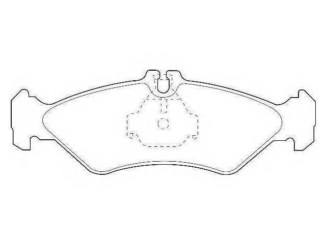 бу Комплект тормозных колодок, дисковый тормоз WAGNER для MERCEDES-BENZ SPRINTER 2-t c бортовой платформой/ходовая часть в Харькове