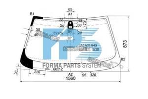 Лобовое стекло BMW 7 E38 -02