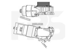 Масляный радиатор MAZDA 2