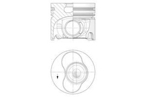 Поршень VW MULTIVAN V / VW TRANSPORTER V фургон / VW TRANSPORTER V автобус 2003-2015 г.