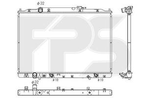 Радиатор Acura MDX (Акура MDX) 06-13 производитель KOYORAD
