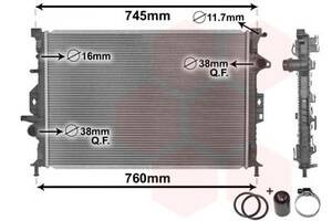 Радиатор FORD FOCUS III / FORD S-MAX (WA6) / VOLVO XC60 (156) / FORD C-MAX II Van 2006-2015 г.