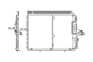 Радиатор кондиционера 2.8i 24V. 3.0i 24V 2.0 TDD (540x428x22) для Mercedes-Benz E-Class W124 (1984-1995)