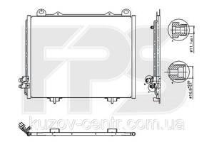 Радиатор кондиционера Mercedes E-Class 210 95-02 производитель NISSENS