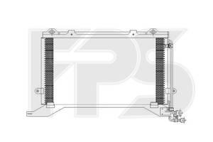 Радиатор кондиционера Mercedes E-Class W210 (95-)