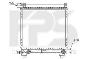Радиатор Mercedes 124 84-96/190 82-93 (W201) производитель FPS