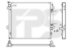 Радиатор охлаждения двигателя Toyota Land Cruiser Prado 120 (AVA) FP 70 A1312