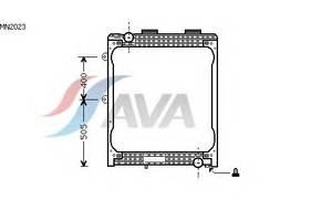 Радиатор охлаждения MAN F2000 (94-) Glyser 182023