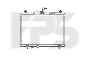 Радиатор охлаждения Renault Kaleos (08-18) 2.0 DCi, 2.5 16V (Nissens) FP 56 A97-X