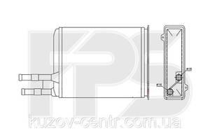 Радиатор отопителя Citroen Jumper