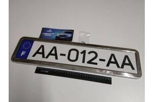 Рамка номерного знака (1 шт.) 12 Atelie (951621) металлическая/хром