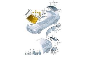 Новые Стекла лобовые/ветровые Audi A6
