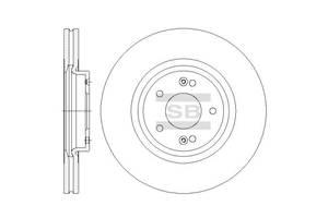 Тормозной диск KIA SORENTO II (XM) / KIA SORENTO III (UM) / HYUNDAI GRAND SANTA FE 2000-2015 г.