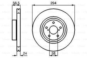 Тормозной диск  передний  SUBARU BRZ 2012- \ SUBARU  FORESTER SG 2002- \ SUBARU IMPREZA 2008-