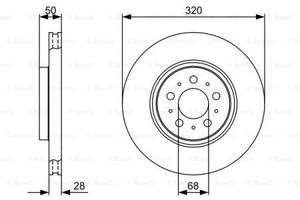 Тормозной диск  передний VOLVO S60 I   2000-\  VOLVOS80 I  1998-