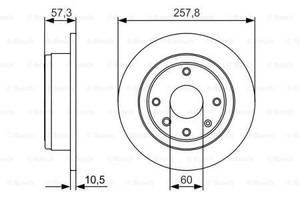 Тормозной диск  задний CHEVROLET LACETTI J200 2005-   \  NUBIRA    \ OPTRA \ DAEWOO  LACETTI