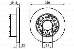 Тормозной диск задний   IVECO  DAILY CITYS 2014-  \  IVECODAILY II  1996-