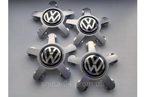 """Заглушки на диски Audi """"звезда"""" Светло Серая 135/57/13 мм. с логотипом Volkswagen"""