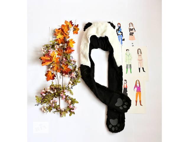 Женская шапка+рукавички, панда- объявление о продаже  в Полтаве