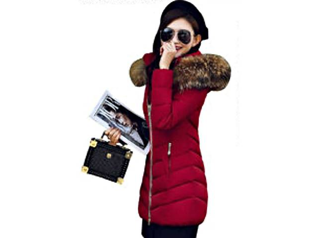 Модная брендовая женская зимняя куртка-парка с большим меховым воротником.-  объявление о продаже 3104a2fe7e419