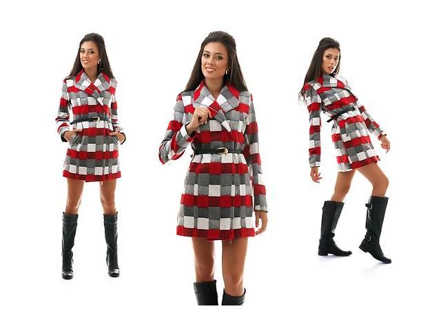 купить бу Женское кашемировое пальто клетка оптом от производителя в Одессе