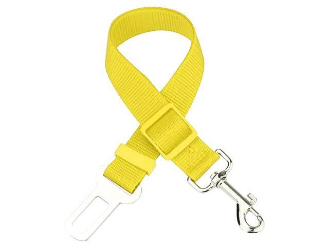 продам Автомобильный ремень безопасности для собаки GoodTrip 43-72 см Yellow (HbP050620) бу в Киеве