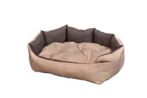 """Лежак для домашніх тварин Мур-Мяу """"Алегро"""" Бежево-коричневий (hub_cLvL09941)"""