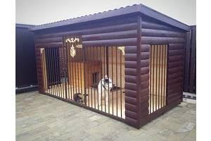Вольєра дерев'яні утеплені для собак виготовлення під замовлення