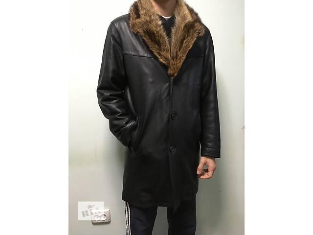 купить бу Зимняя кожаная куртка на меху в Каменец-Подольском