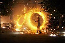 Огненное шоу, пиротехника, фейерверки