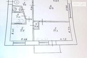 Продається 2-кімнатна квартира 38.9 кв. м у Прилуках