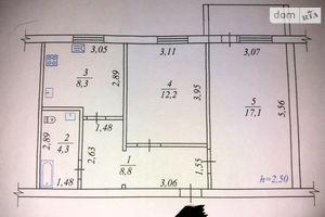 Продається 2-кімнатна квартира 49 кв. м у Жмеринці