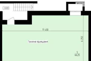Продается офис 66.25 кв. м в нежилом помещении в жилом доме