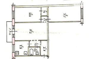 Продается 3-комнатная квартира 58.6 кв. м в Кривом Роге