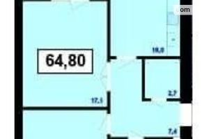 Продается 2-комнатная квартира 64.8 кв. м в Ивано-Франковске
