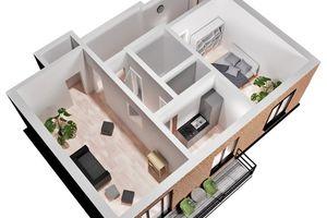 Продается 2-комнатная квартира 53.7 кв. м в Киеве