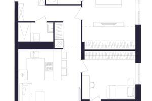 Продается 2-комнатная квартира 69.82 кв. м в Львове