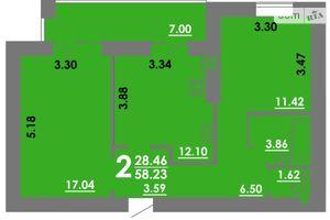 Продается 2-комнатная квартира 58.23 кв. м в Николаеве
