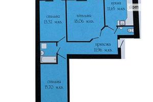 Продается 3-комнатная квартира 82.57 кв. м в Тернополе