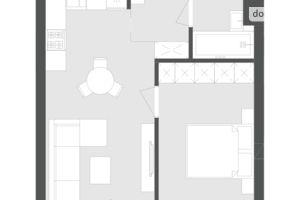 Продається 1-кімнатна квартира 39.93 кв. м у Львові