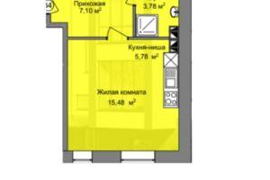 Продається 1-кімнатна квартира 27.6 кв. м у Дніпрі