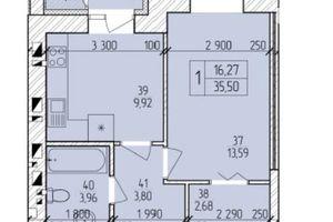 Продається 1-кімнатна квартира 35.5 кв. м у Хмельницькому