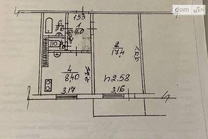 Продається 1-кімнатна квартира 34.4 кв. м у Богуславі
